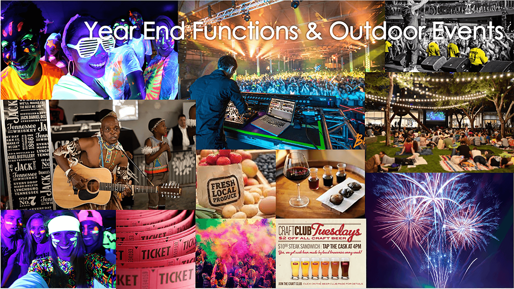 Year End Functions & Outdoor Events
